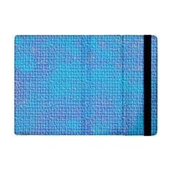 Textured Blue & Purple Abstract Apple Ipad Mini Flip Case by StuffOrSomething