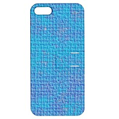 Textured Blue & Purple Abstract Apple Iphone 5 Hardshell Case With Stand by StuffOrSomething