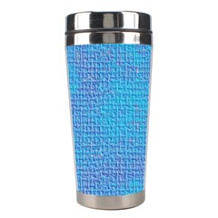 Textured Blue & Purple Abstract Stainless Steel Travel Tumbler by StuffOrSomething