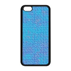 Textured Blue & Purple Abstract Apple Iphone 5c Seamless Case (black) by StuffOrSomething