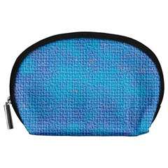 Textured Blue & Purple Abstract Accessory Pouch (large) by StuffOrSomething