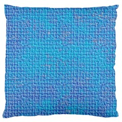Textured Blue & Purple Abstract Large Flano Cushion Case (one Side) by StuffOrSomething