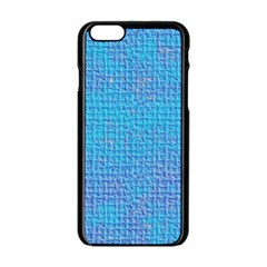 Textured Blue & Purple Abstract Apple Iphone 6 Black Enamel Case by StuffOrSomething