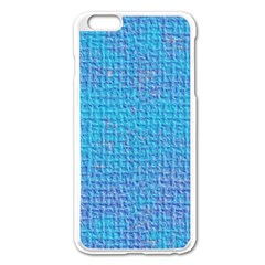 Textured Blue & Purple Abstract Apple iPhone 6 Plus Enamel White Case by StuffOrSomething