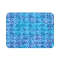 Textured Blue & Purple Abstract Double Sided Flano Blanket (mini) by StuffOrSomething