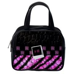 Pink Tiger Bling Classic Handbag (one Side) by OCDesignss