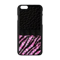 Pink Tiger Bling Apple iPhone 6 Black Enamel Case
