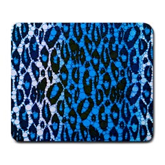 Florescent Blue Cheetah  Large Mouse Pad (rectangle) by OCDesignss
