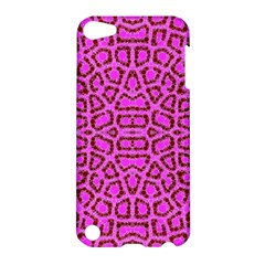 Florescent Pink Animal Print  Apple Ipod Touch 5 Hardshell Case by OCDesignss