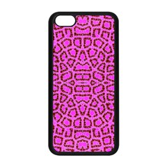 Florescent Pink Animal Print  Apple Iphone 5c Seamless Case (black)