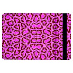 Florescent Pink Animal Print  Apple Ipad Air Flip Case by OCDesignss