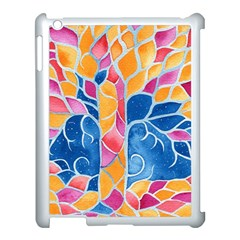 Yellow Blue Pink Abstract  Apple Ipad 3/4 Case (white) by OCDesignss