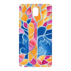 Yellow Blue Pink Abstract  Samsung Galaxy Note 3 N9005 Hardshell Back Case by OCDesignss