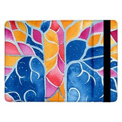 Yellow Blue Pink Abstract  Samsung Galaxy Tab Pro 12 2  Flip Case by OCDesignss