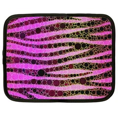 Hot Pink Black Tiger Pattern  Netbook Sleeve (large) by OCDesignss