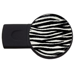 Black White Tiger  2gb Usb Flash Drive (round) by OCDesignss
