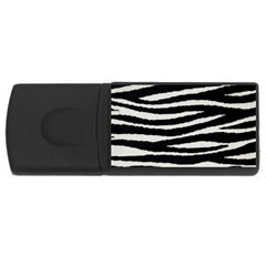 Black White Tiger  4gb Usb Flash Drive (rectangle) by OCDesignss