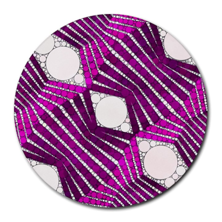 Crazy Beautiful Abstract  8  Mouse Pad (Round)