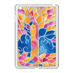 Yellow Blue Pink Abstract  Apple Ipad Mini Case (white) by OCDesignss