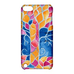 Yellow Blue Pink Abstract  Apple Ipod Touch 5 Hardshell Case With Stand by OCDesignss