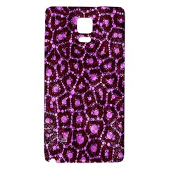 Cheetah Bling Abstract Pattern  Samsung Note 4 Hardshell Back Case by OCDesignss