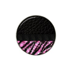 Pink Tiger Bling Golf Ball Marker (for Hat Clip) by OCDesignss