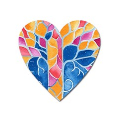 Yellow Blue Pink Abstract  Magnet (heart) by OCDesignss
