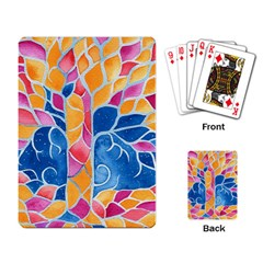 Yellow Blue Pink Abstract  Playing Cards Single Design