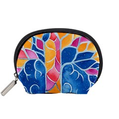 Yellow Blue Pink Abstract  Accessory Pouch (small) by OCDesignss
