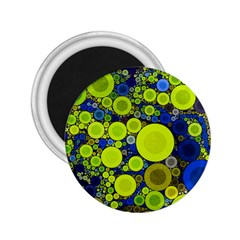 Polka Dot Retro Pattern 2 25  Button Magnet
