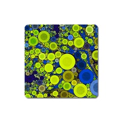 Polka Dot Retro Pattern Magnet (square)
