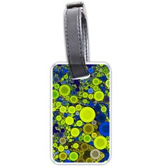 Polka Dot Retro Pattern Luggage Tag (one Side) by OCDesignss