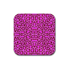 Florescent Pink Animal Print  Drink Coasters 4 Pack (Square) by OCDesignss