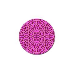 Florescent Pink Animal Print  Golf Ball Marker 10 Pack by OCDesignss