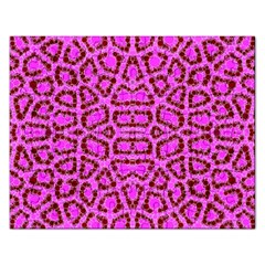 Florescent Pink Animal Print  Jigsaw Puzzle (rectangle)