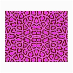 Florescent Pink Animal Print  Glasses Cloth (small)