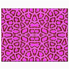 Florescent Pink Animal Print  Canvas 8  X 10  (unframed)