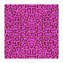 Florescent Pink Animal Print  Glasses Cloth (medium, Two Sided)