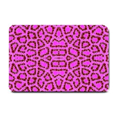Florescent Pink Animal Print  Small Door Mat