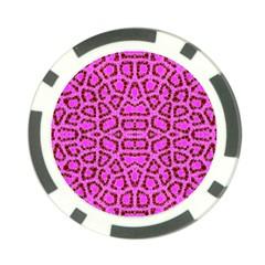 Florescent Pink Animal Print  Poker Chip by OCDesignss
