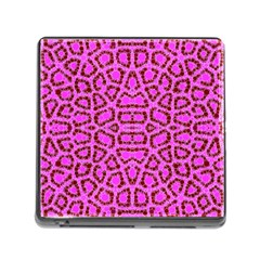 Florescent Pink Animal Print  Memory Card Reader With Storage (square) by OCDesignss
