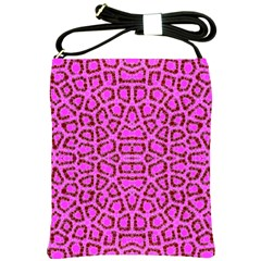 Florescent Pink Animal Print  Shoulder Sling Bag by OCDesignss