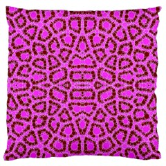Florescent Pink Animal Print  Standard Flano Cushion Case (one Side) by OCDesignss