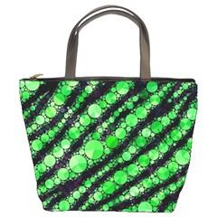 Florescent Green Tiger Bling Pattern  Bucket Handbag