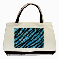 Bright Blue Tiger Bling Pattern  Classic Tote Bag by OCDesignss