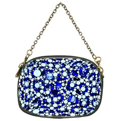 Bright Blue Cheetah Bling Abstract  Chain Purse (Two Sided)  by OCDesignss