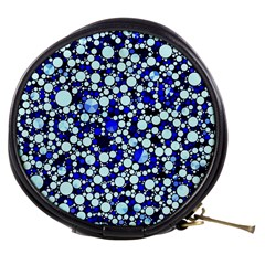 Bright Blue Cheetah Bling Abstract  Mini Makeup Case by OCDesignss