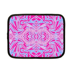 Trippy Florescent Pink Blue Abstract  Netbook Sleeve (small) by OCDesignss