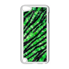 Florescent Green Tiger Bling Pattern  Apple Ipod Touch 5 Case (white) by OCDesignss