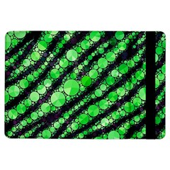 Florescent Green Tiger Bling Pattern  Apple Ipad Air Flip Case by OCDesignss
